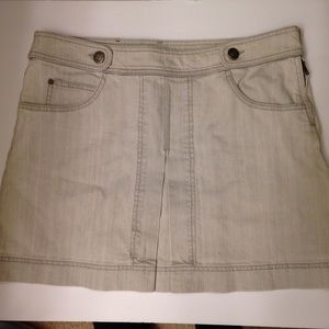 Gucci light grey denim skirt authentic
